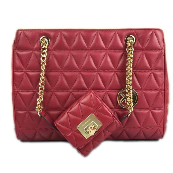 2a698825c3f9 Michael Kors Bags | Cherry Susannah Lg Tote Wallet Set | Poshmark